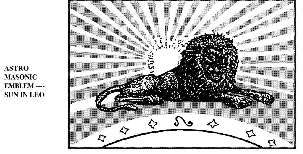 Text Box:    Слика 6, Зодијакалне лествице за уздизање Сунца од зимског солстицијума до пролећне равнодневице (Robert Brown: Stellar Theology and Masonic Astronomy, str. 114).