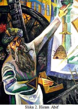 Text Box: Kako  je  konstruisana  i  odakle  dolazi masonska legenda o Hiramu Abifu?